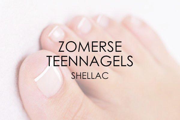 Zomerse teennagels (Shellac)