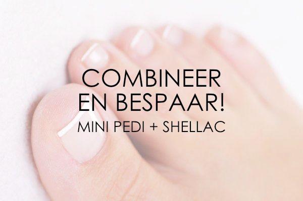 Mini Combi Deal: Mini Pedicure + Zomerse Teennagels (Shellac)