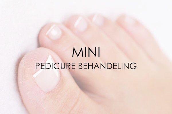 Mini pedicure behandeling